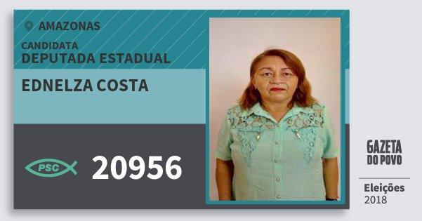 Santinho Ednelza Costa 20956 (PSC) Deputada Estadual | Amazonas | Eleições 2018
