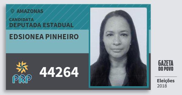 Santinho Edsionea Pinheiro 44264 (PRP) Deputada Estadual | Amazonas | Eleições 2018