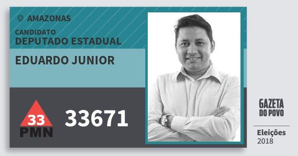 Santinho Eduardo Junior 33671 (PMN) Deputado Estadual | Amazonas | Eleições 2018
