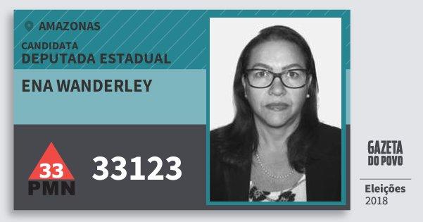 Santinho Ena Wanderley 33123 (PMN) Deputada Estadual | Amazonas | Eleições 2018