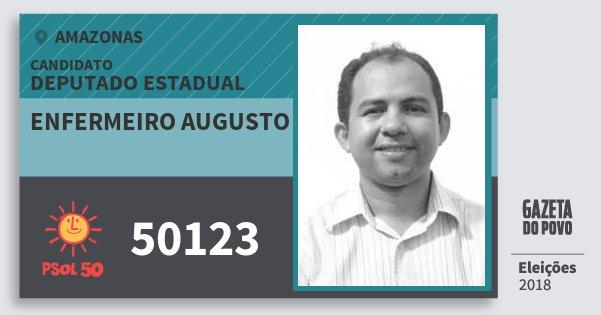 Santinho Enfermeiro Augusto 50123 (PSOL) Deputado Estadual | Amazonas | Eleições 2018