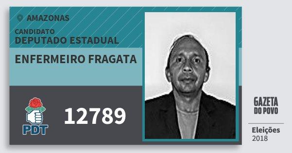 Santinho Enfermeiro Fragata 12789 (PDT) Deputado Estadual | Amazonas | Eleições 2018