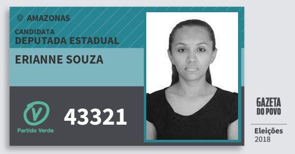 Santinho Erianne Souza 43321 (PV) Deputada Estadual | Amazonas | Eleições 2018