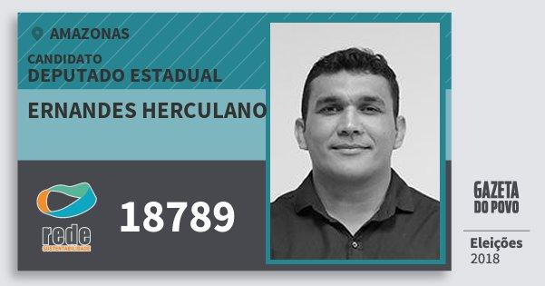 Santinho Ernandes Herculano 18789 (REDE) Deputado Estadual   Amazonas   Eleições 2018