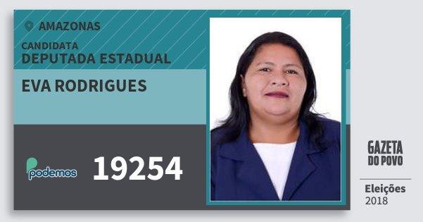 Santinho Eva Rodrigues 19254 (PODE) Deputada Estadual | Amazonas | Eleições 2018