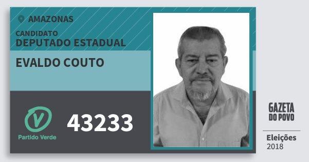 Santinho Evaldo Couto 43233 (PV) Deputado Estadual   Amazonas   Eleições 2018