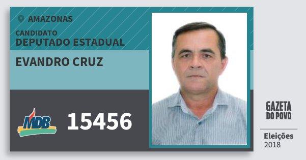 Santinho Evandro Cruz 15456 (MDB) Deputado Estadual | Amazonas | Eleições 2018
