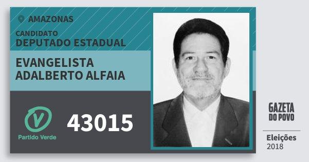 Santinho Evangelista Adalberto Alfaia 43015 (PV) Deputado Estadual   Amazonas   Eleições 2018