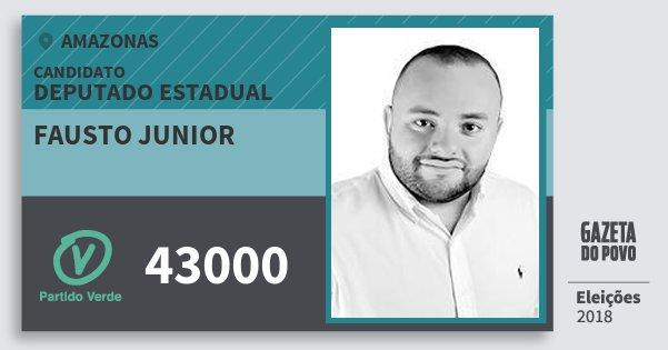 Santinho Fausto Junior 43000 (PV) Deputado Estadual | Amazonas | Eleições 2018