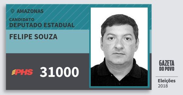 Santinho Felipe Souza 31000 (PHS) Deputado Estadual   Amazonas   Eleições 2018