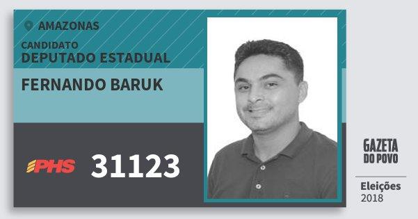 Santinho Fernando Baruk 31123 (PHS) Deputado Estadual | Amazonas | Eleições 2018