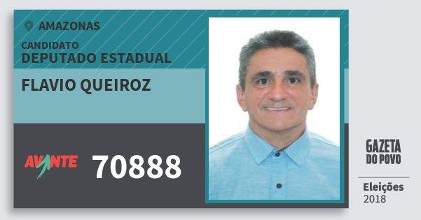 Santinho Flavio Queiroz 70888 (AVANTE) Deputado Estadual | Amazonas | Eleições 2018