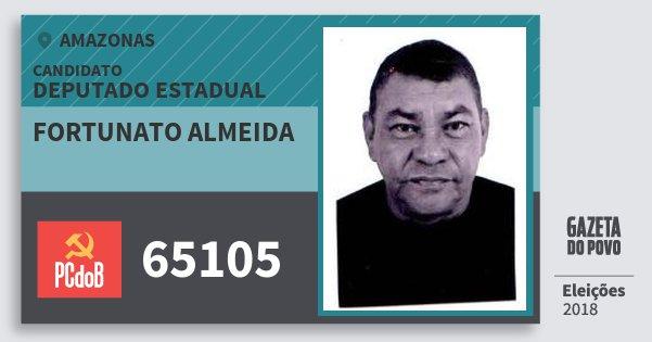 Santinho Fortunato Almeida 65105 (PC do B) Deputado Estadual | Amazonas | Eleições 2018