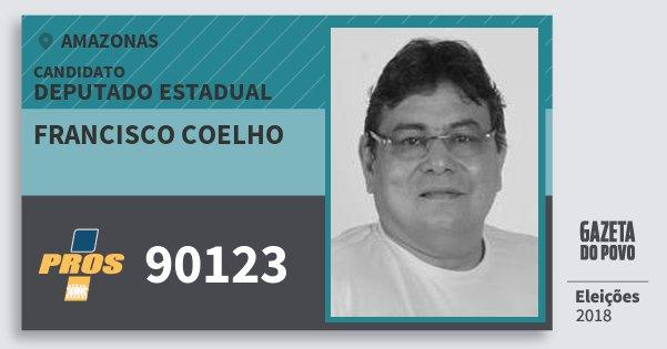 Santinho Francisco Coelho 90123 (PROS) Deputado Estadual | Amazonas | Eleições 2018