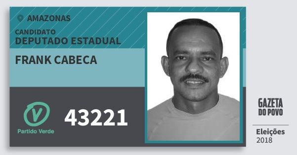 Santinho Frank Cabeca 43221 (PV) Deputado Estadual | Amazonas | Eleições 2018
