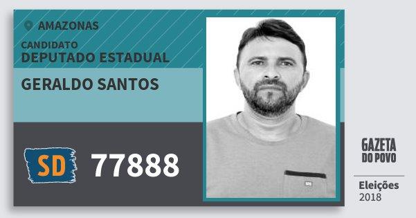 Santinho Geraldo Santos 77888 (SOLIDARIEDADE) Deputado Estadual | Amazonas | Eleições 2018