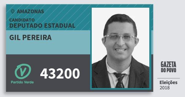 Santinho Gil Pereira 43200 (PV) Deputado Estadual   Amazonas   Eleições 2018