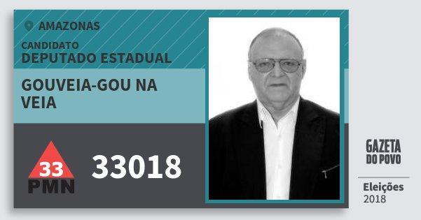 Santinho Gouveia-Gou na Veia 33018 (PMN) Deputado Estadual | Amazonas | Eleições 2018