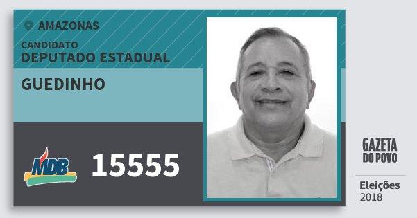 Santinho Guedinho 15555 (MDB) Deputado Estadual | Amazonas | Eleições 2018