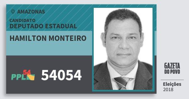 Santinho Hamilton Monteiro 54054 (PPL) Deputado Estadual   Amazonas   Eleições 2018