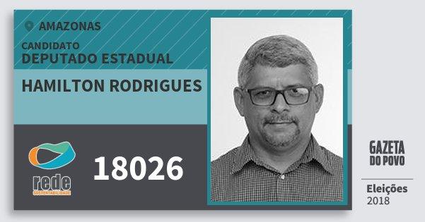Santinho Hamilton Rodrigues 18026 (REDE) Deputado Estadual | Amazonas | Eleições 2018