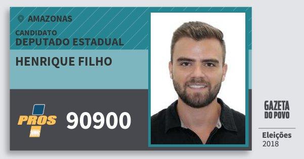 Santinho Henrique Filho 90900 (PROS) Deputado Estadual | Amazonas | Eleições 2018