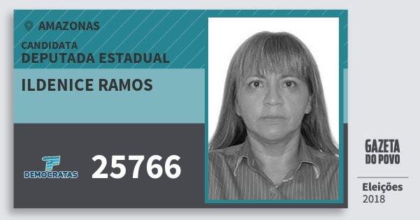 Santinho Ildenice Ramos 25766 (DEM) Deputada Estadual | Amazonas | Eleições 2018