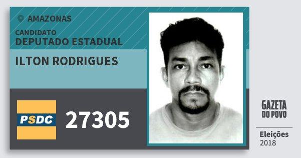 Santinho Ilton Rodrigues 27305 (DC) Deputado Estadual | Amazonas | Eleições 2018