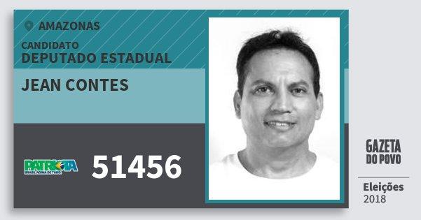 Santinho Jean Contes 51456 (PATRI) Deputado Estadual | Amazonas | Eleições 2018