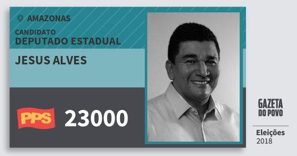 Santinho Jesus Alves 23000 (PPS) Deputado Estadual | Amazonas | Eleições 2018