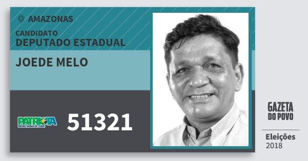 Santinho Joede Melo 51321 (PATRI) Deputado Estadual | Amazonas | Eleições 2018