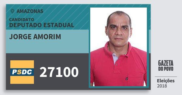 Santinho Jorge Amorim 27100 (DC) Deputado Estadual | Amazonas | Eleições 2018