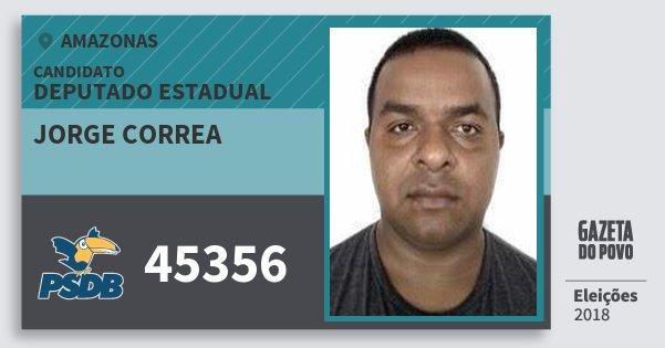 Santinho Jorge Correa 45356 (PSDB) Deputado Estadual | Amazonas | Eleições 2018