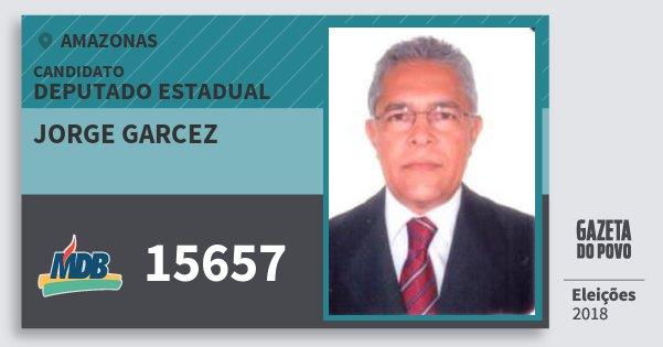 Santinho Jorge Garcez 15657 (MDB) Deputado Estadual | Amazonas | Eleições 2018