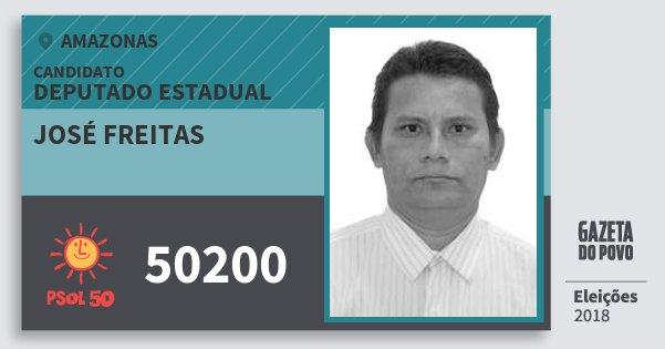 Santinho José Freitas 50200 (PSOL) Deputado Estadual | Amazonas | Eleições 2018