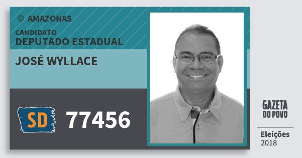 Santinho José Wyllace 77456 (SOLIDARIEDADE) Deputado Estadual | Amazonas | Eleições 2018