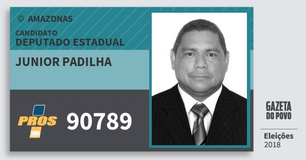 Santinho Junior Padilha 90789 (PROS) Deputado Estadual | Amazonas | Eleições 2018