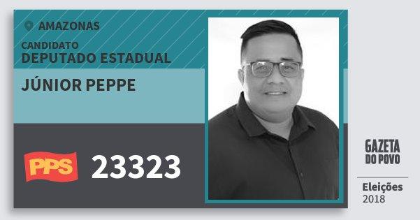 Santinho Júnior Peppe 23323 (PPS) Deputado Estadual | Amazonas | Eleições 2018
