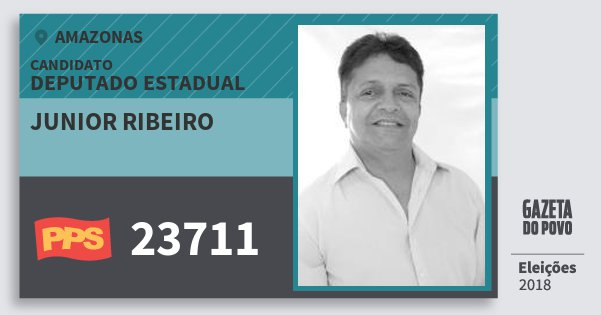 Santinho Junior Ribeiro 23711 (PPS) Deputado Estadual   Amazonas   Eleições 2018