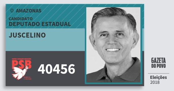 Santinho Juscelino 40456 (PSB) Deputado Estadual | Amazonas | Eleições 2018
