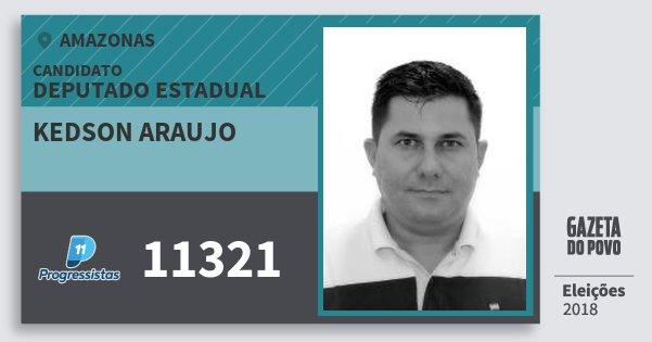 Santinho Kedson Araujo 11321 (PP) Deputado Estadual | Amazonas | Eleições 2018