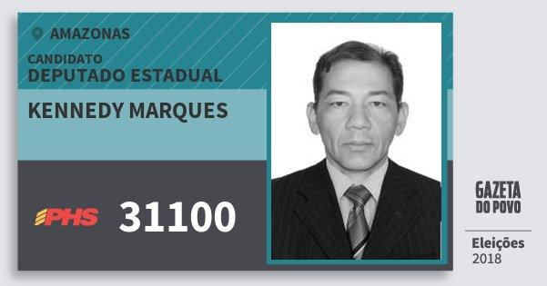 Santinho Kennedy Marques 31100 (PHS) Deputado Estadual | Amazonas | Eleições 2018