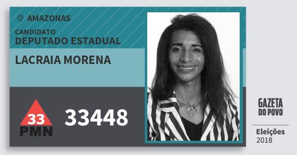Santinho Lacraia Morena 33448 (PMN) Deputado Estadual   Amazonas   Eleições 2018