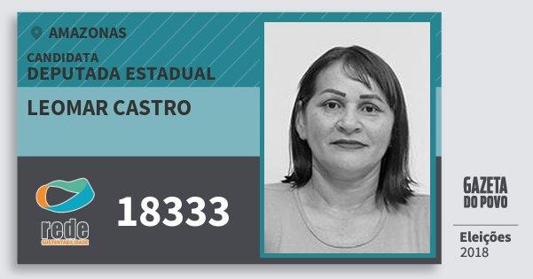 Santinho Leomar Castro 18333 (REDE) Deputada Estadual | Amazonas | Eleições 2018