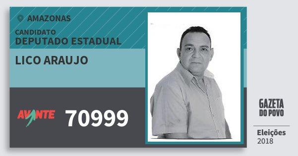Santinho Lico Araujo 70999 (AVANTE) Deputado Estadual | Amazonas | Eleições 2018