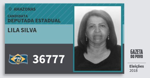 Santinho Lila Silva 36777 (PTC) Deputada Estadual   Amazonas   Eleições 2018