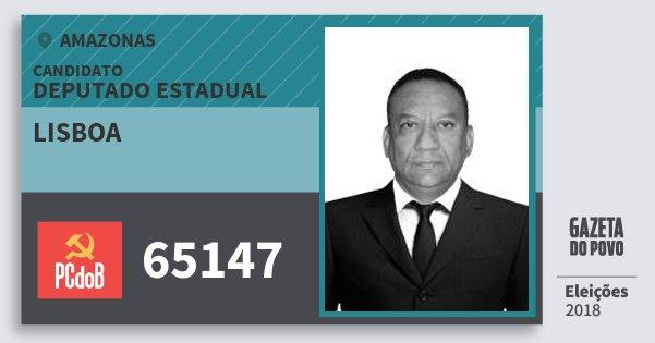 Santinho Lisboa 65147 (PC do B) Deputado Estadual | Amazonas | Eleições 2018