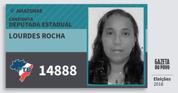 Santinho Lourdes Rocha 14888 (PTB) Deputada Estadual | Amazonas | Eleições 2018