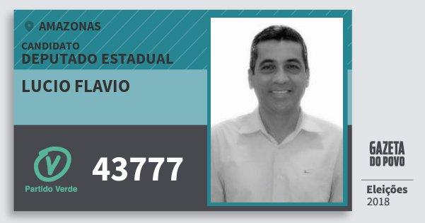 Santinho Lucio Flavio 43777 (PV) Deputado Estadual | Amazonas | Eleições 2018