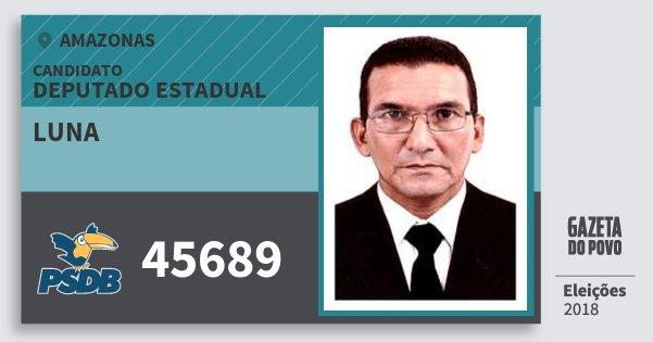 Santinho Luna 45689 (PSDB) Deputado Estadual | Amazonas | Eleições 2018